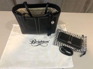 Brighton Jax pretty tough tote & wallet leather for Sale in Tampa, FL
