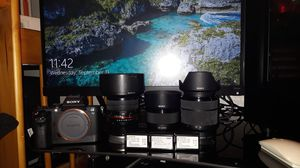 Sony camera a7ii with 3 lenses for Sale in Brooklyn, NY