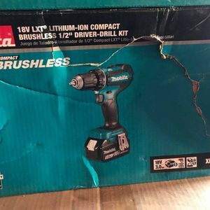 MAKITA 18V CORDLESS BRUSHLESS DRILL WITH 3.0AH BATTERY AND CHARGER for Sale in Turlock, CA