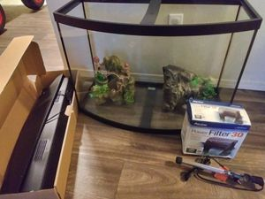 36 Gallon Bow Front Aquarium for Sale in Oklahoma City, OK