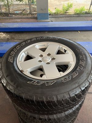 "2010 Jeep Wrangler 18"" OEM wheels for Sale in Miami, FL"