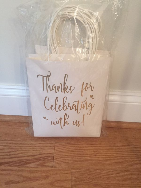 Great gift bags for weddings or engagement