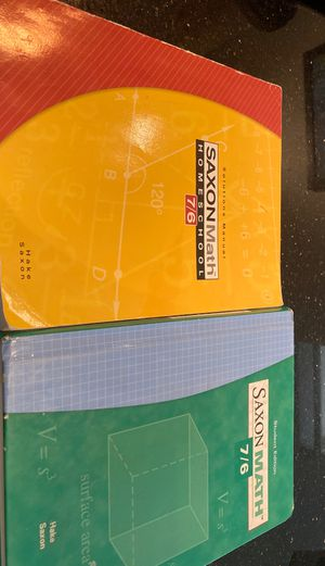 Saxon Math 7/6 Book and Solutions Manual for Sale in Phoenix, AZ