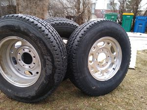 Rims and tiers 8lug 16in rim bridgestone for Sale in Englewood, CO