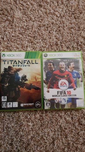 Imported Japanese Xbox 360 Games, Titanfall, FIFA 10 for Sale in Quinton, VA