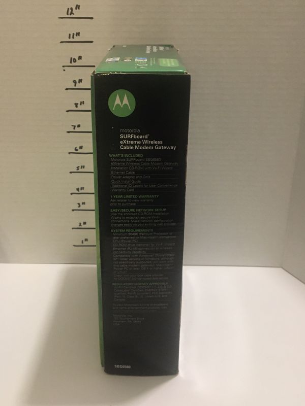 Motorola surfboard docsis 3.0 Cable modem router model SBG6580