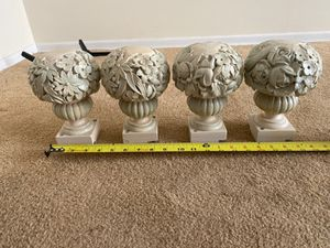Carved mahogany decorative furniture bouquets for Sale in Greenwich, CT