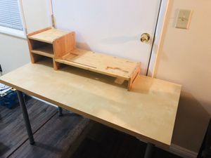Table/Desk plus computer monitor stand for Sale in Downey, CA