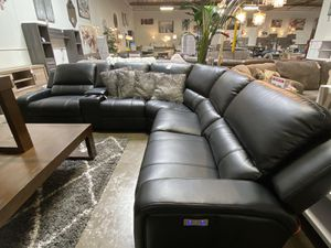 NEW IN THE BOX. EURO 3 PC GRAY POWER MOTION SECTIONAL SOFA RECLINER, SKU# EUROGRY for Sale in Huntington Beach, CA