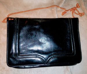 Black Faux Leather Envelope Clutch for Sale in Long Beach, CA