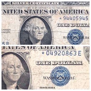 TWO 1935 Star Replacement Notes 1935 D and E Series! for Sale in St. Charles, IL