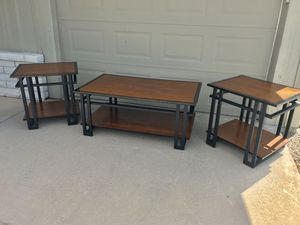 Coffee table and matching end tables for Sale in Phoenix, AZ