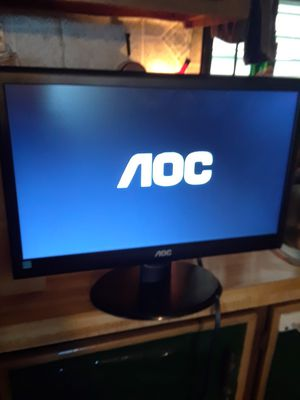 Aoc Computer Monitor ( 11 w x 17 L) Asking 30. for Sale in Princeton, TX