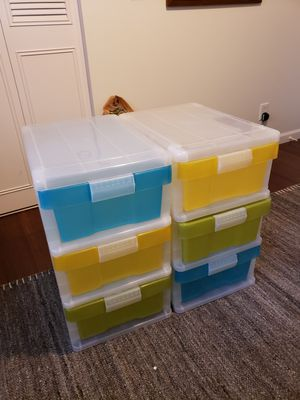 2 / 3 Drawer Storage Containers, Crafting, Clothes, Tools, Organize (Container Store) for Sale in Seattle, WA