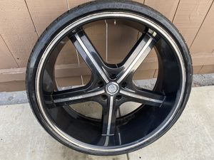 24 inch rims with used tires for Sale in San Diego, CA