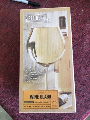 New in box wine glass for Sale in Pismo Beach, CA