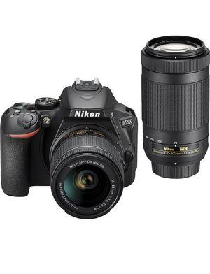 Nikon - D5600 DSLR Video Two Lens Kit with 18-55mm and 70-300mm Lenses - Black for Sale in Brandon, FL