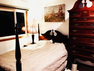 Beautiful Queen Anne Style Bed Frame And Chest Of Drawers for Sale in Tigard,  OR