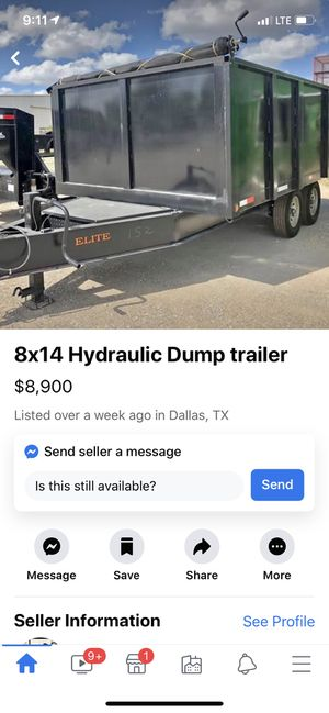 Price reduction 8x14 New 14k dump trailer for Sale in Waxahachie, TX