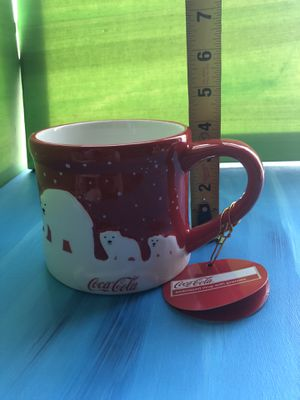 COCA-COLA Christmas Holiday bear CERAMIC RED CUP MUG for Sale in Las Vegas, NV