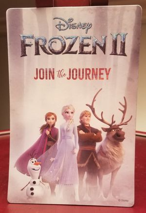 "Disney Frozen 2 Join the Journey movie magnet 4x6"" magnet for Sale in Long Beach, CA"