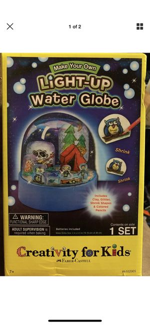 Creativity for Kids Make Your Own Light-Up Water Globe for Sale in Colchester, CT