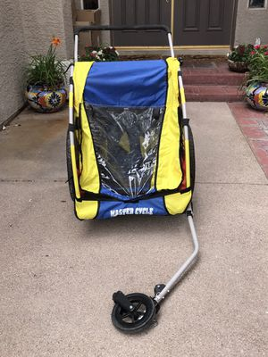 Child bike trailer, Master Cycle, conversion wheel for Sale in Las Vegas, NV