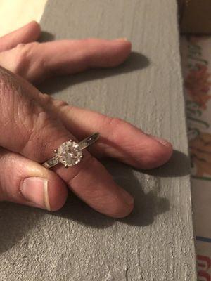 Wedding RingG Si Carat Cushion Diamond Ring 14K White Gold Enhanced for Sale in Bessemer, AL