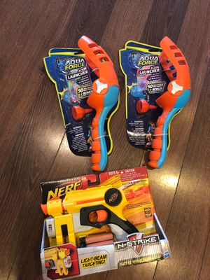 New Nerf gun n-strike and two water balloon launchers for Sale in AZ, US