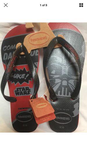 Havaianas Star Wars Flip Flops Black Red Darth Vadar, I am Your Father Mens 13 for Sale in Escondido, CA