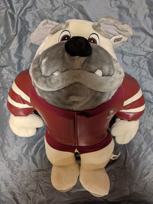 Brand New Authentic 49ers Bulldog and Gorilla Stuffed Animals in Leather Jackets for Sale in San Francisco, CA