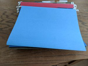 25 letter size hanging file folders for Sale in Moline, IL