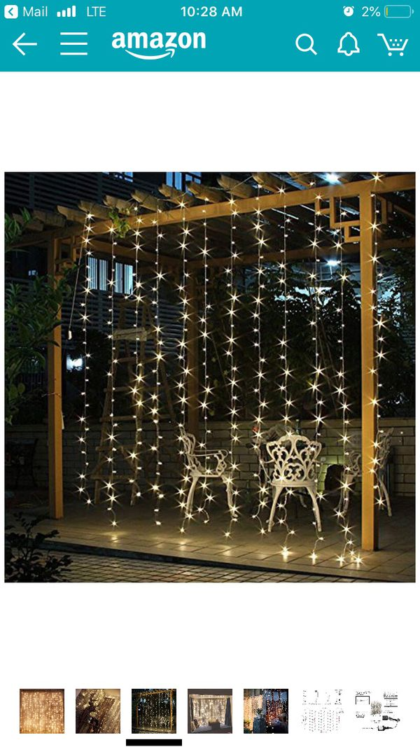 String curtain lights