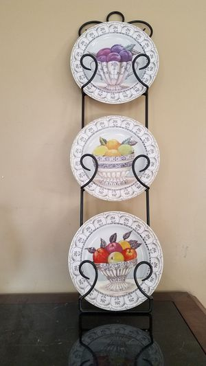 Decorative plate stand with plates for Sale in Washington, DC