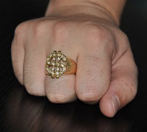 New 18 k yellow gold men's wedding ring engagement ring for Sale in Orlando, FL