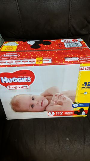 Huggies snug and dry size 1 for Sale in Glendale, AZ