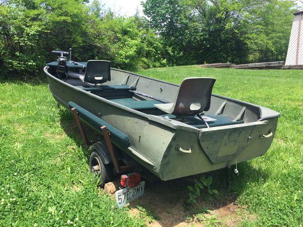 John boat and motor