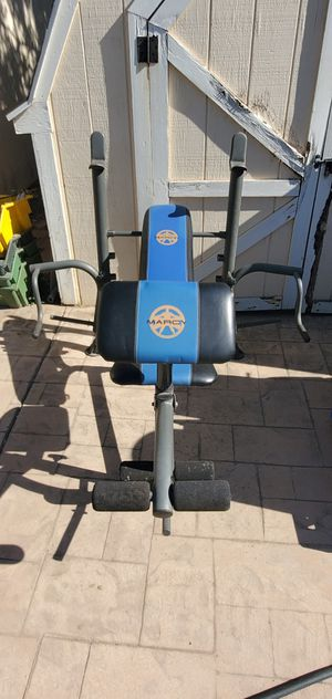 Marcy bench and weights for Sale in Modesto, CA