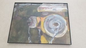 Fire hydrant painting - acrylic on canvas (framed) for Sale in Palmer, MA