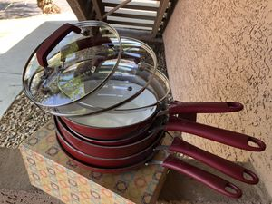 Wearever Ceramic Pots and Pans - 8 pcs for Sale in Scottsdale, AZ