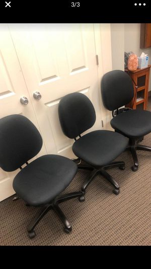 Padded office chairs $50/chair for Sale in Fairfax, VA