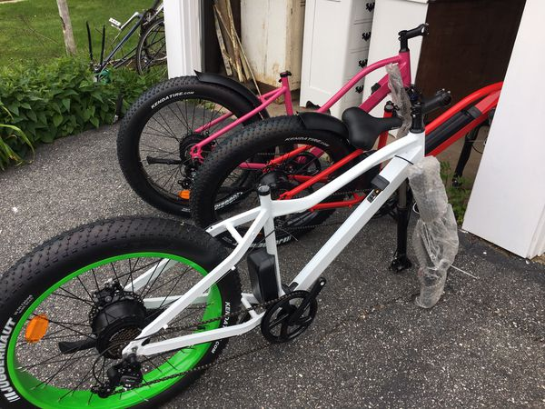 New White Fat Tire Electric Bicycle