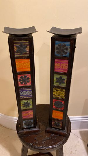Pier 1 pillar candle stands for Sale in Miami, FL
