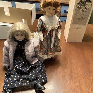 2 Antique Porcelain Dolls With Boxes for Sale in Fredericksburg, VA