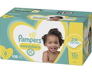 Diapers Size 6, 108 Count - Pampers Swaddlers Disposable Baby Diapers for Sale in Hialeah, FL