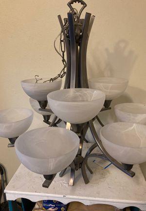 Polished nickel chandelier for Sale in Phoenix, AZ