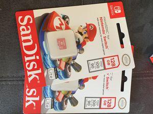 Nintendo switch sd card 128gb super Mario edition new for Sale in Miami, FL
