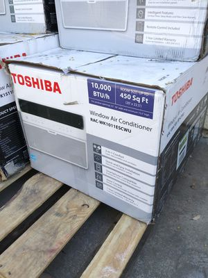 BRAND NEW AC WINDOW TOSHIBA 10,000 BTU SMARTPHONE COMPATIBLE,VOICE CONTROL,QUIK AND EASY INSTALLATION FOR ANY QUESTION TEXT ME ANY TIME PLEASE for Sale in Los Angeles, CA