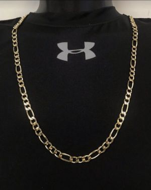 Cadena de Fiagaro de 14k oro laminado/ 14k gold filled figaro chain for Sale in Houston, TX
