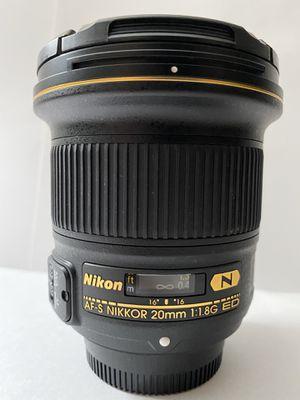 Nikon 20mm f/1.8G ED AF-S for Sale in Hayward, CA